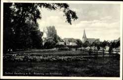 Postcard Bernburg an der Saale Salzlandkreis, Rosenhag im Krumbholz, Kirchturm