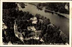 Postcard Oranienbaum Wörlitz im Kreis Wittenberg, Ort, Fliegeraufnahme