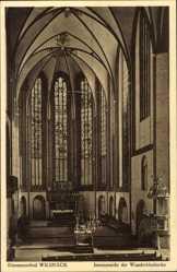 Postcard Bad Wilsnack in der Prignitz, Innenansicht der Wunderblutkirche