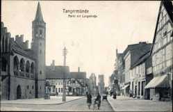 Postcard Tangermünde in Sachsen Anhalt, Markt mit Langestraße