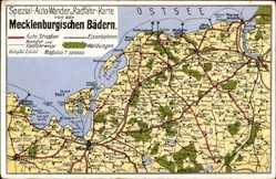 Landkarten Ak Rerik, Mecklenburgische Bäder, Wismar, Grevesmühlen, Doberan