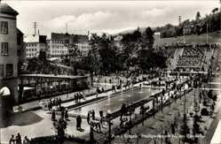 Postcard Aue im Erzgebirge Sachsen, Stadtgarten am Neuen Ratskeller