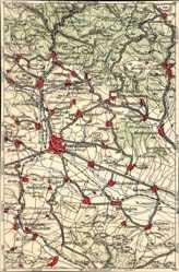 Landkarten Ak Nordhausen an der Zorge Thüringen, Heringen, Uthleben, Hain