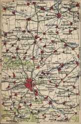 Landkarten Ak Weimar in Thüringen, Buttelstedt, Buttstädt, Weiden, Goldbach