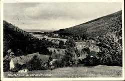 Postcard Stutzhaus Luisenthal Kreis Gotha, Blick auf den Ort und die Umgebung