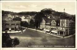 Postcard Blankenburg am Harz, Kurhaus und Gebirgshotel mit Schloss