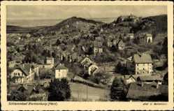 Postcard Blankenburg am Harz, Schlammbad, Gesamtansicht des Ortes
