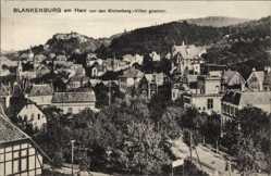Postcard Blankenburg am Harz, Blick von den Eichenberg Villen