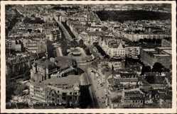 Postcard Magdeburg in Sachsen Anhalt, Fliegeraufnahme von der Stadt