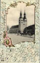 Passepartout Ak Schönebeck an der Elbe im Salzlandkreis, Die Jacobi Kirche