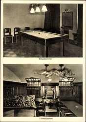 Postcard Bad Berka im Weimarer Land Thüringen, Ärzteheim, Billardzimmer, Trinkstube