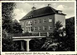 Postcard Großbartloff Kreis Eichsfeld, Katholisches Schwesternheim, Brücke