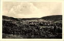 Postcard Heilbad Heiligenstadt in Thüringen, Stadtpanorama, Turm, Berge, Wald, Felder