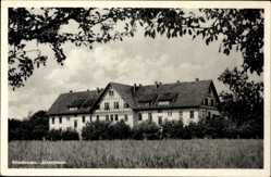Postcard Friedensau Möckern Jerichower Land, Altersheim vom Feld aus