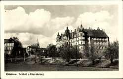 Postcard Güstrow im Kreis Rostock, Blick auf das Schloss, Altersheim, Straßenpartie