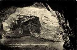 Postcard Chemnitz Sachsen, Rabensteiner unterirdischer Felsendom, Ausgang z. Binge