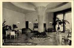 Postcard Warmbad Wolkenstein im Erzgebirge, Sanatorium, Wintergarten vom Klubhaus
