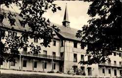 Postcard Warmbad Wolkenstein im Erzgebirge, Wismut Sanatorium, Kulturgebäude