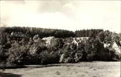 Postcard Rechenberg Bienenmühle Erzgebirge, Blick auf den Ort, Feld, Wald