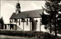 Postcard Bad Brambach im Vogtland, Blick auf die Katholische Kirche