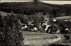 Postcard Hohendorf Bad Brambach im Vogtland, Blick auf den Ort, Wald