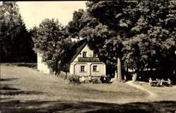 Postcard Bad Brambach Vogtland, Gasthaus Schimmel, Richard Leicht