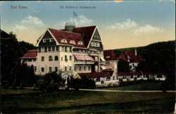 Postcard Bad Elster im Vogtland, Blick auf Dr. Köhlers Sanatorium, Straße