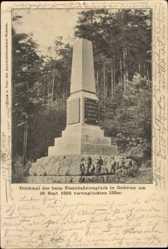 Postcard Oederan Sachsen, Denkmal der 133er vom Eisenbahnunglück 19. Sept. 1895