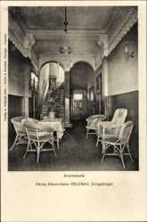 Postcard Gelenau im Erzgebirge Sachsen, König Albert Heim, Eintrittshalle