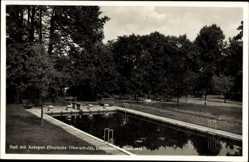 Postcard Callnberg Lichtenstein in Sachsen, Bad mit Anlagen, Deutsche Oberschule