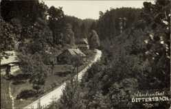 Foto Ak Dittersbach Frauenstein im Erzgebirge, Schulzenthal, Straßenpartie