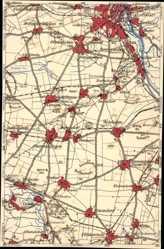 Landkarten Ak Magdeburg in Sachsen Anhalt, Welsleben, Weddingen, Schwaneberg