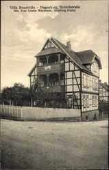 Ak Ilsenburg am Nordharz, Villa Brunhilde, Hagenberg,Louise Warmholz,Schlossstr.