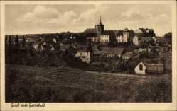 Ak Gerbstedt im Kreis Mansfeld Südharz, Ortschaft mit Bahnstrecke