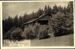 Foto Ak Schönberg Bad Brambach im Vogtland, FDGB Ferienheim, ehem. Jagdschloss
