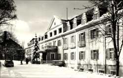 Postcard Bad Brambach im Vogtland, Das Vogtland Haus im Winter