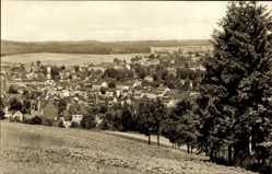 Postcard Markneukirchen im Vogtland Sachsen, Blick vom Berg auf den Ort