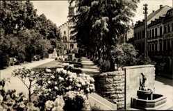 Postcard Markneukirchen im Vogtland Sachsen, Ernst Thälmann Platz, Brunnen