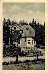 Postcard Neustadt im Erzgebirge, Blick von außen auf die Weiseritzbaude