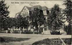 Postcard Bad Berka im Weimarer Land Thüringen, Hotel Pension Wettiner Hof