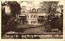 Postcard Bad Elster im Vogtland, Blick auf das Kurhaus Rautenkranz, Fassade