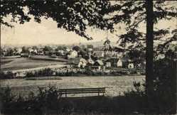 Postcard Zöblitz Marienberg im Erzgebirge Sachsen, Blick auf den Ort vom Burgberg aus