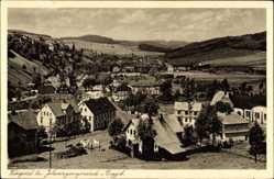 Postcard Willigsthal Johanngeorgenstadt im Erzgebirge Sachsen, Felder, Häuser, Ort