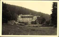 Postcard Raschau Markersbach,FDGB Ferienheim Wolsner Mühle, Wald