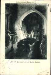 Künstler Ak Baden Baden, Schwarzwald Sagen XIV, Kloster Lichtenthal, Mönche