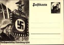 Ganzsachen Ak Nürnberg, Reichsparteitag 1934, NSDAP