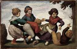 Künstler Ak von Zumbusch, Ludwig, Kinderreigen, Nr. 157, spielende Kinder