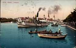 Postcard Zürich Stadt Schweiz, Utoquai, Salondampfer Speer, Ruderboote