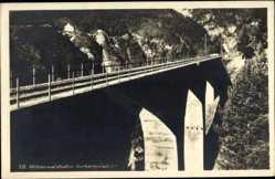Postcard Zirl Tirol Österreich, Mittenwaldbahn, Blick auf das Vorbergviadukt