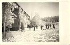 Foto Ak Holzhau Rechenberg Bienenmühle, FDGB Erholungsheim Fortschritt, Ski